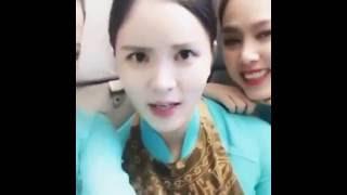 Tiếp viên Việt Nam airlines nói tiếng Hàn cực cute