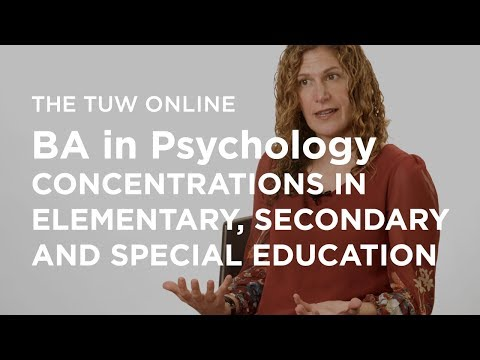 BA in Psychology - Concentrations in Elementary, Secondary and Special Education