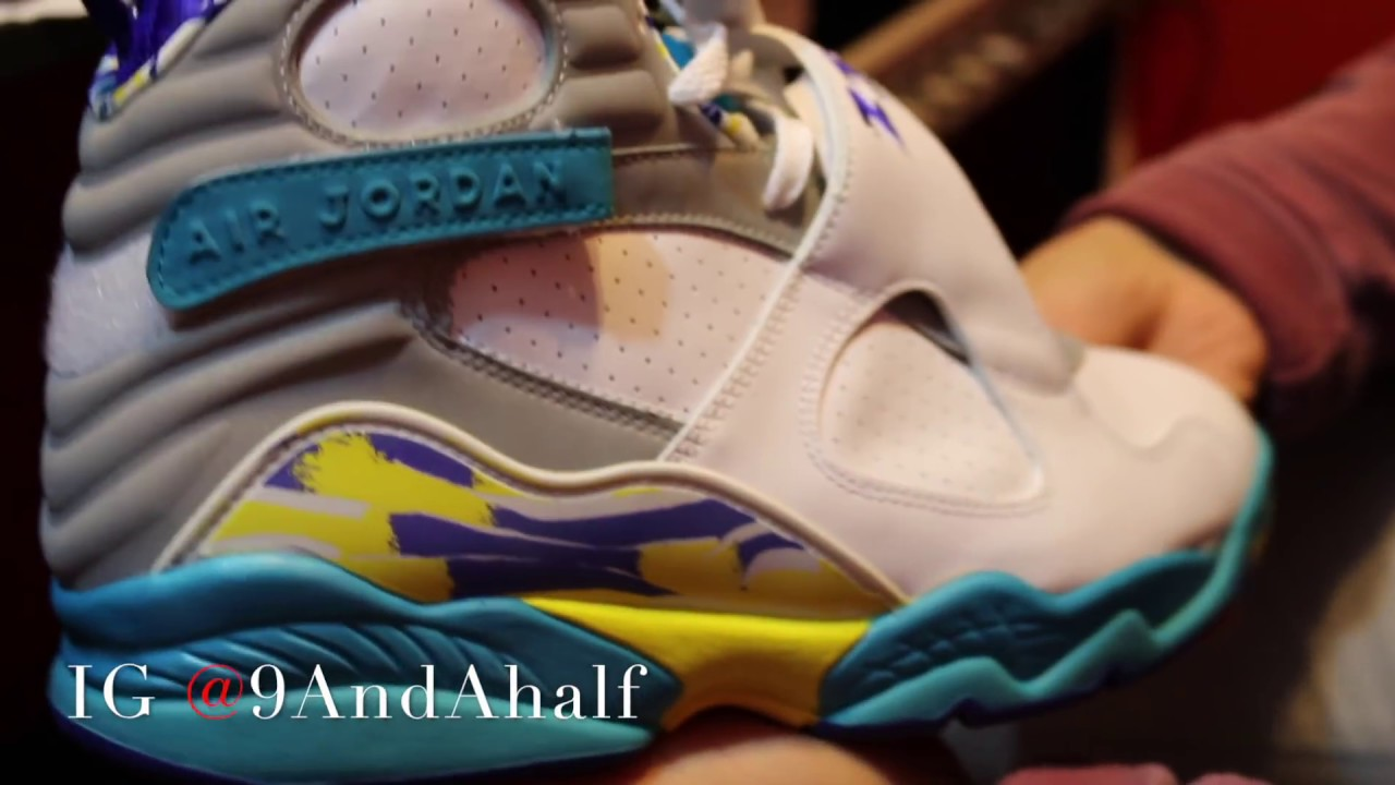 online store 3645e e8481 Jordan 8 Aqua (VIII) Retro Women s Review    9AndAhalf,  LeoCapoStatus,    The Restock