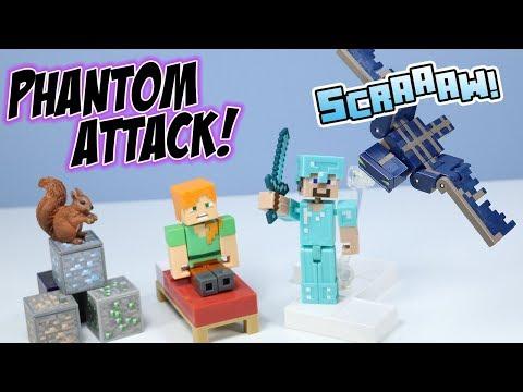 Minecraft Toys Comic Maker Phantom And Alex & Steve In Diamond Armor Mattel