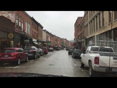 Galena, Illinois Main ST Driving North Thru Downtown