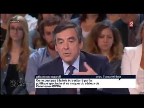 François Fillon face à Bernard Cazeneuve débat tendu