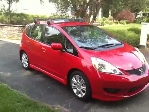 2009 Honda Fit Yakima Roof Rack - YouTube