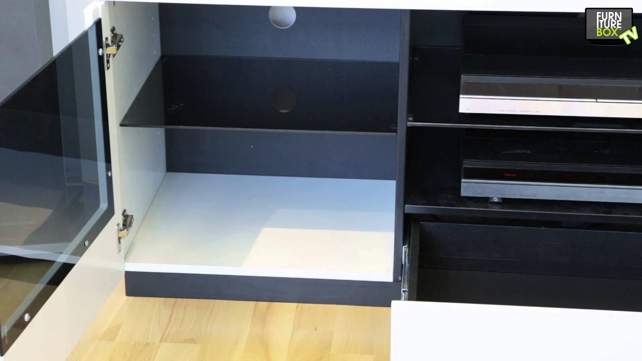ETAGE Tv-bänk Vit/Svart Furniturebox