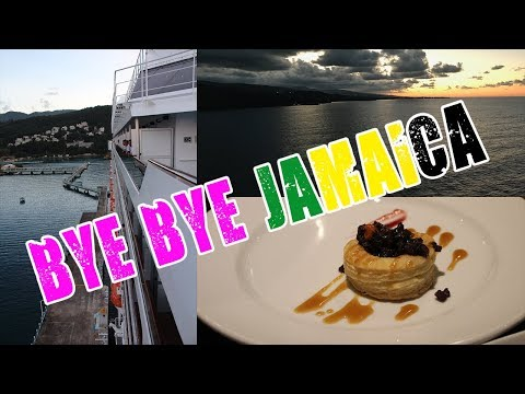 CARNIVAL SPLENDOR CRUISE VLOG Ep  9 | Sunset SailAway from Jamaica and something GROSS!!