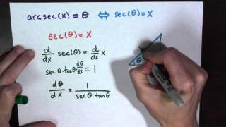 the derivative of arcsec x