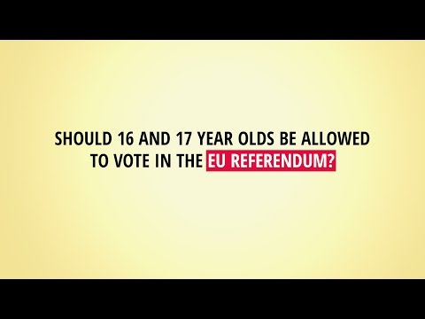 Should 16 and 17 year olds be allowed to vote in the EU referendum?