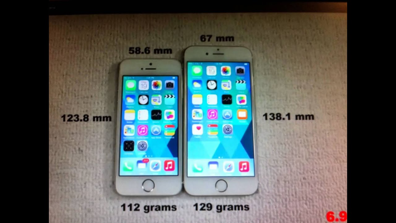 length of an iphone 5s notice the difference between iphone 5s and iphone 6 2130