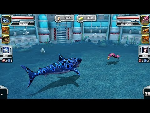 MEGALODON VS ANOMALOCARIS - Jurassic Park Builder Aquatic Tournament Android Gameplay HD