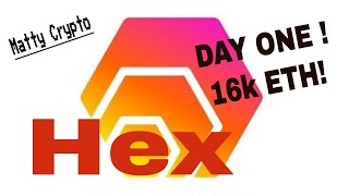 HEX Goes Live with over 21,000 Ethereum on Day ONE!