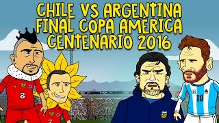 CHILE VS ARGENTINA - FINAL COPA AMÉRICA CENTENARIO 2016 (Animación)