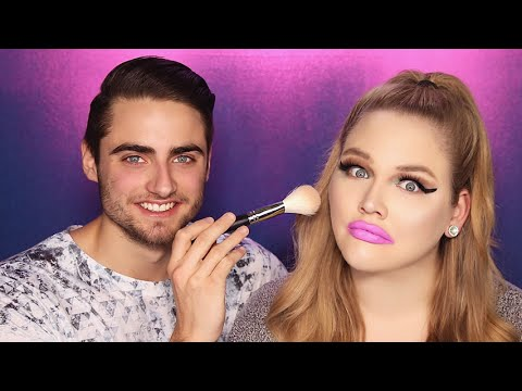 BOYFRIEND DOES MY MAKEUP | NikkieTutorials thumbnail