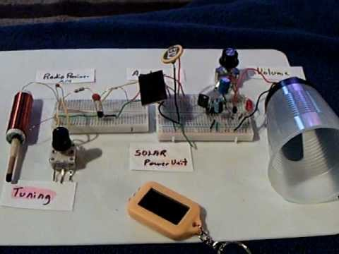 Solar powered homemade AM radio