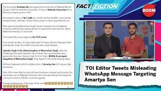 Fact Vs Fiction: TOI Editor Tweets Misleading WhatsApp Message Targeting Amartya Sen