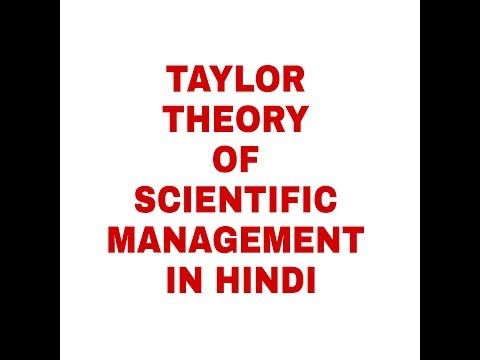 TAYLOR THEORY OF SCIENTIFIC MANAGEMENT