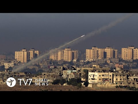 TV7 Israel News 11.12.17 Palestinian Islamists fire rockets toward Israel, IAF retaliates