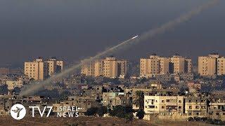 TV7 Israel News 11.12.17 Palestinian Islamists fire rockets toward Israel, IAF retaliates