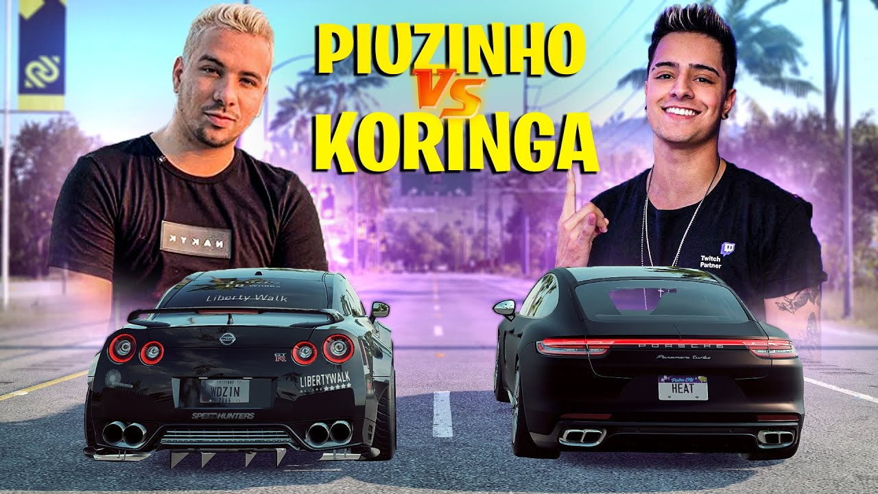 PIUZINHO vs KORINGA quem corre mais ? NISSA GTR vs PORSCHE PANAMERA - NEED FOR SPEED HEAT