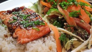 How To Make A Grilled Salmon Teriyaki ~ Cooking With Mira