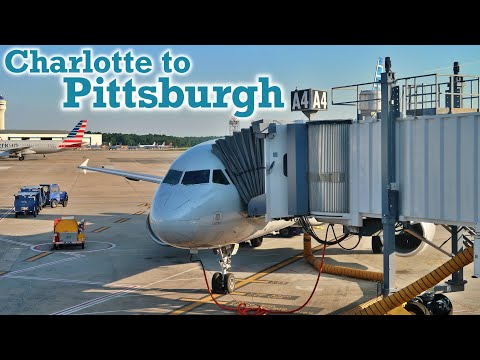 Full Flight: American Airlines A320 Charlotte To Pittsburgh (CLT-PIT)