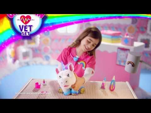 "LITTLE LIVE | Rainglow Unicorn Vet Set | 30"""
