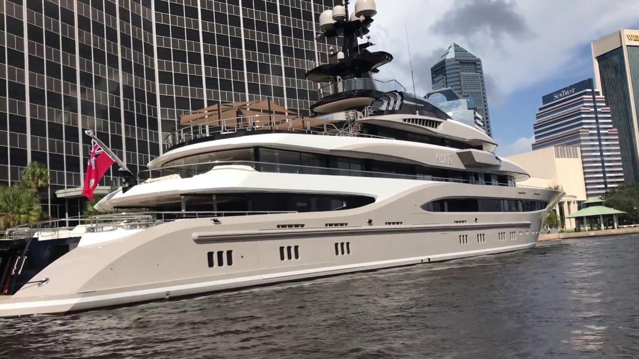 Shad Khans Mega Yacht Kismet 1 Docked At Jacksonville