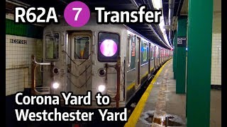 ⁴ᴷ R62A 7 Train being Transferred from Corona Yard to Westchester Yard