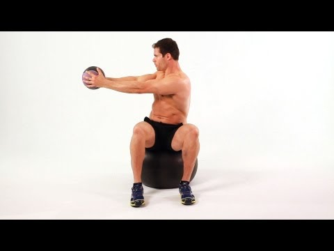 How to Do Seated Twist on Exercise Ball | Ab Workout