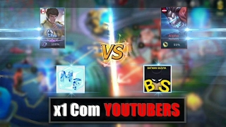 MOBILE LEGENDS - X1 COM YouTubers (Batman Suzuya)