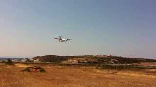 Paros Airport Landing, Olympic Airlines DASH 8, Paros Island, Greece,Iphone video(Paros Airport Landing, Olympic Airlines DASH 8, Paros Island, Greece Paros National Airport is an airport in Paros, Greece, in the Cyclades islands region., 2013-07-15T13:58:00.000Z)
