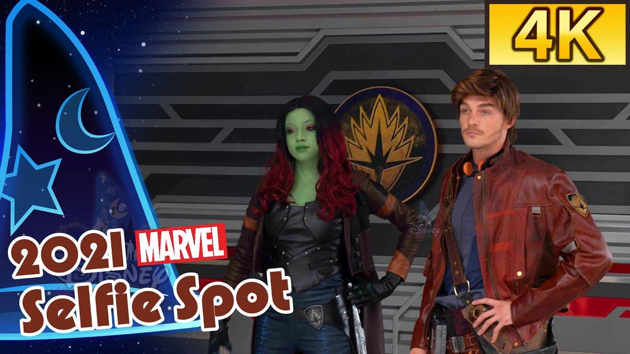 [4K Hong Kong Disneyland] Selfie Spot 2021: Star-Lord and Gamora