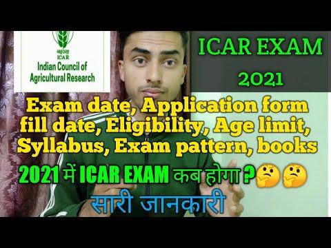 Icar Exam 2021 Exam Date, Eligibility, Age Limit,exam Pattern, Syllabus, Books / Icar Exam 2021