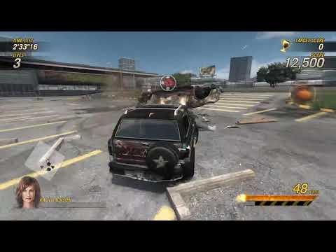 Flatout Ultimate Carnage testing Frank's car  