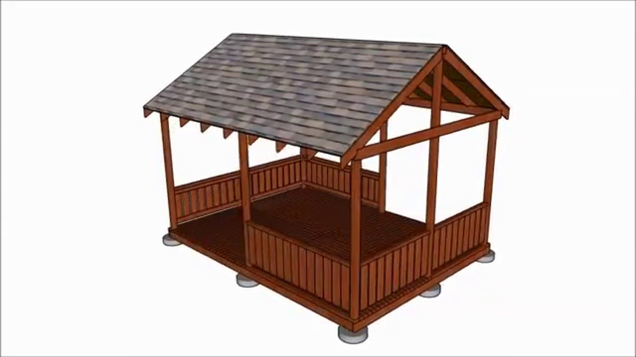 Gazebos diy gazebo plans for Simple gazebo plans
