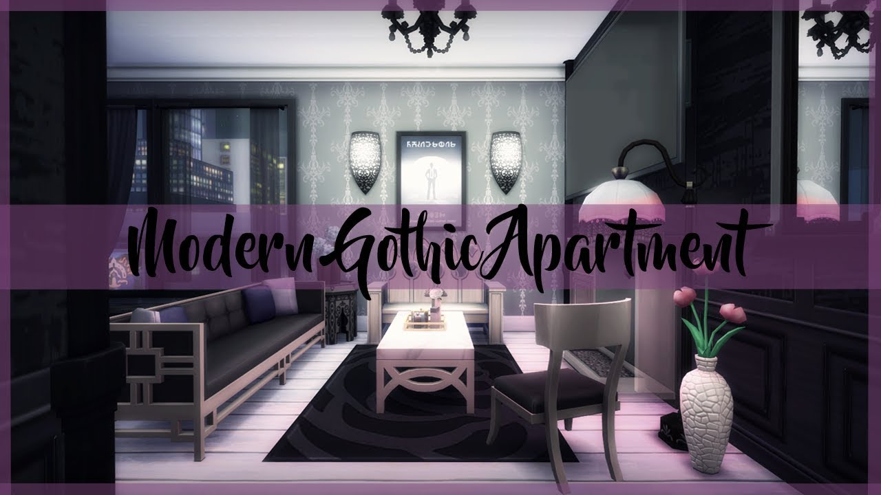 The Sims 4 Build Modern Gothic Apartment