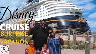 DISNEY DREAM CRUISE ~ VLOG FAMILY REVIEW ~ SURPRISE VACATION