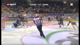 Gambar cover Joe Thornton First Goal for HC Davos vs HC Lugano | 9/28/12