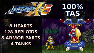 """[TAS] PSX Mega Man X6 """"100%"""" by Rolanmen1 in 56:47.18"""