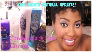 NATURAL HAIR| One Month Post Big Chop! BEST DRUGSTORE CONDITIONERS FOR 4 HAIR TYPE!