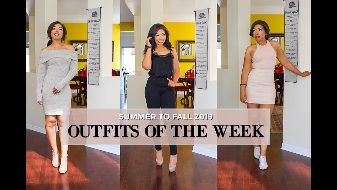 FALL 2019 OUTFITS OF THE WEEK + How to Style SUMMER TO FALL Lookbook 9
