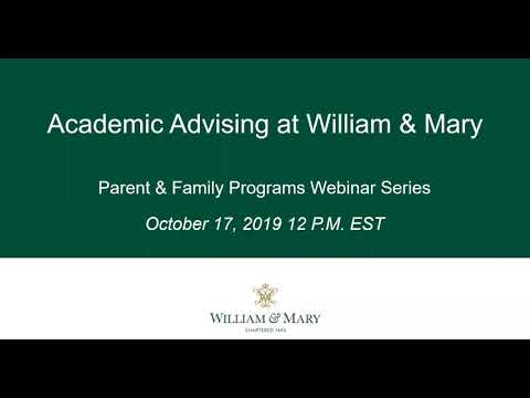 Academic Advising Webinar - October 2019