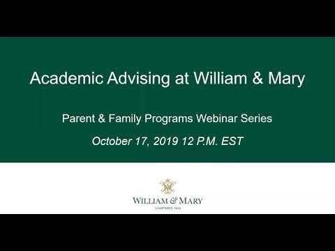 Academic Advising Webinar - October 2019