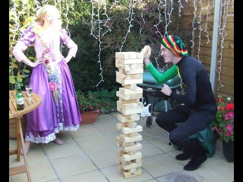 Giant Jenga & Garden Games Hire Somerset Aces Fun Casino Tel: 0800 107 7001