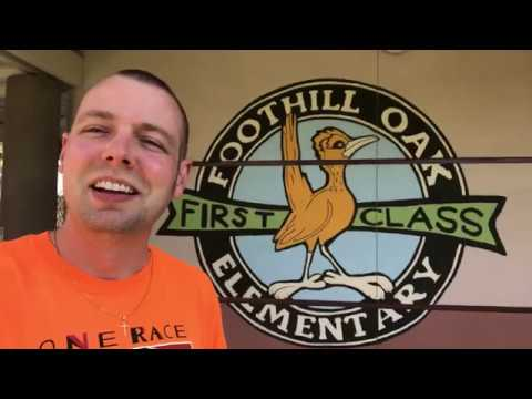 Mr. Peace Visits Foothill Oak Elementary School in Vista, California