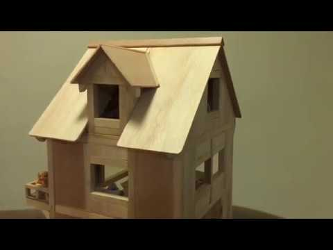 Handmade Wooden Doll House for LPS Toys