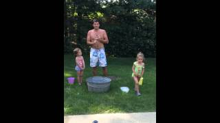ALS ice bucket challenge fail , kid nailed it. What they say about ice water is true..