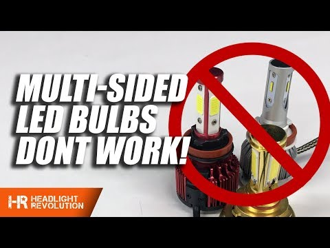 Main Reasons to Avoid Multi-Sided LED Headlight Bulbs