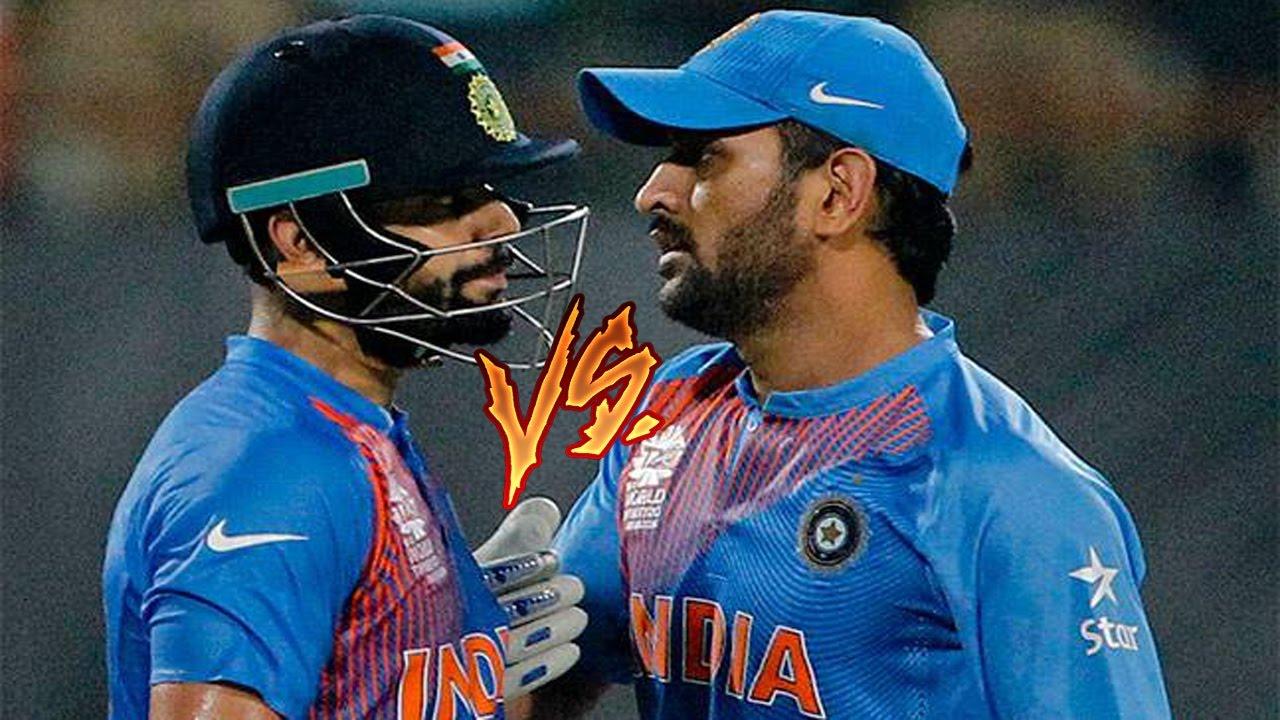 M.S Dhoni VS Virat Kohli - YouTube  M.S Dhoni VS Vi...