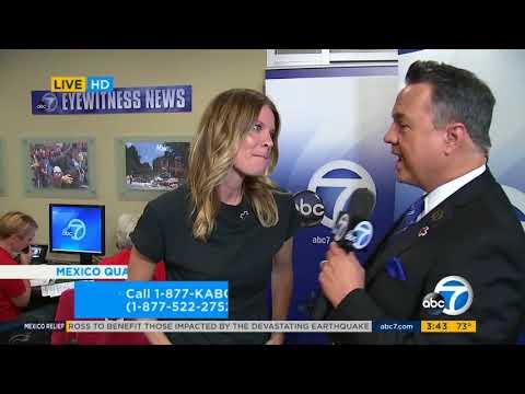 092217 ABC7 Mexico Earthquake Relief Drive  Michelle Stafford
