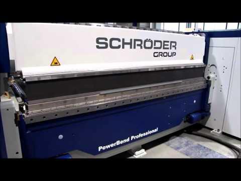 Schröder PowerBend Professional 2000x4mm Kapasiteli Cnc Parçalı Kalıplı Caka